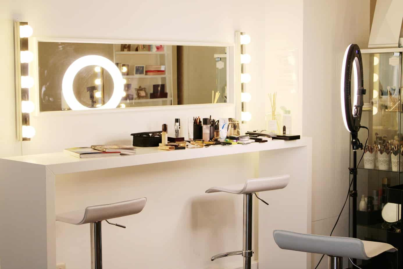 estudio de maquilhagem luzes